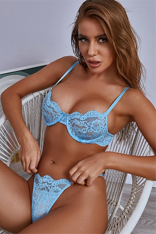 Aquarius Lace Baby Blue set