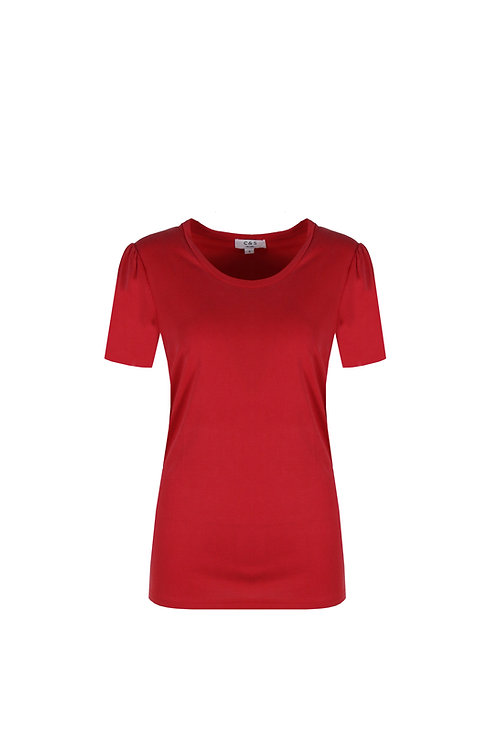 C&S T-shirt Mailey rood