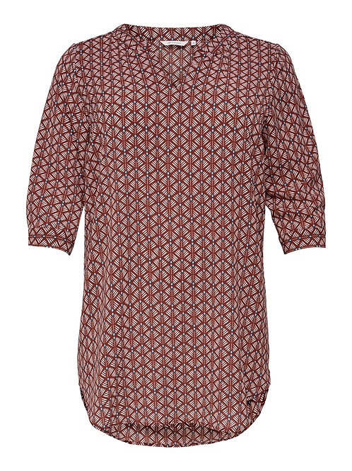 ONLY Carmakoma top rood met grafische print