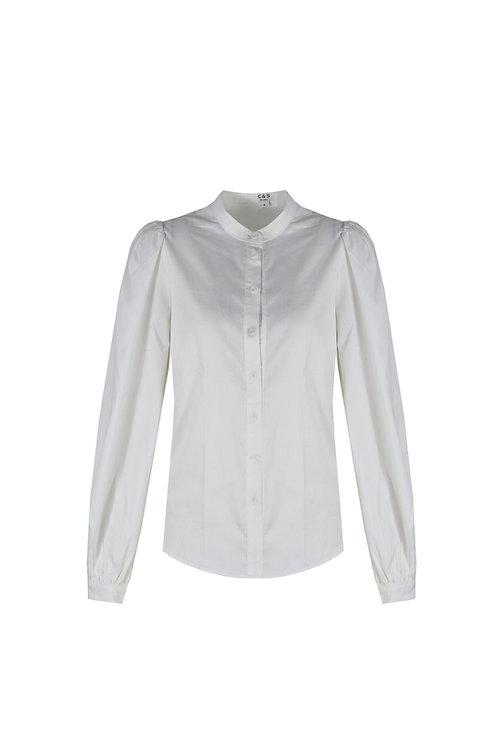C&S blouse wit met ballonmouw