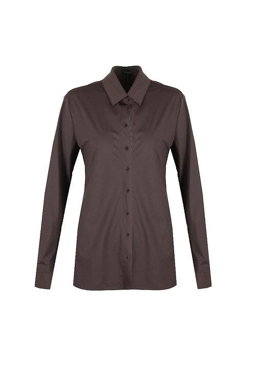 G-maxx basis blouse chocoladebruin