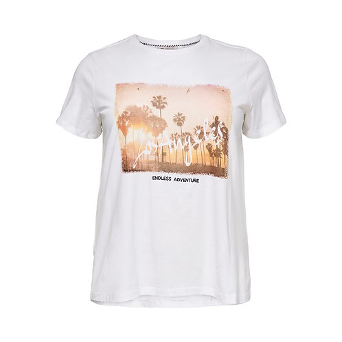 ONLY Carmakoma T-shirt NICE wit met print