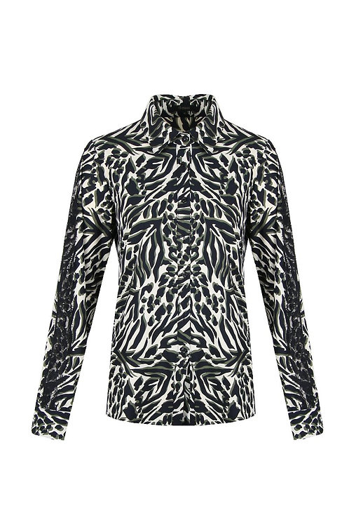 G-maxx blouse roomwit met donkere print