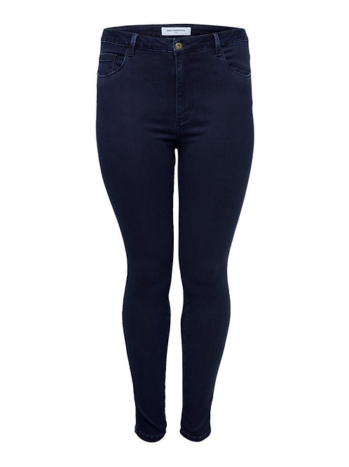 Only Carmakoma jeans donkerblauw