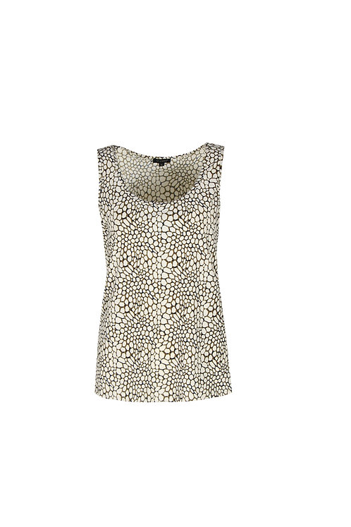 G-maxx top Danilla wit/taupe patroon