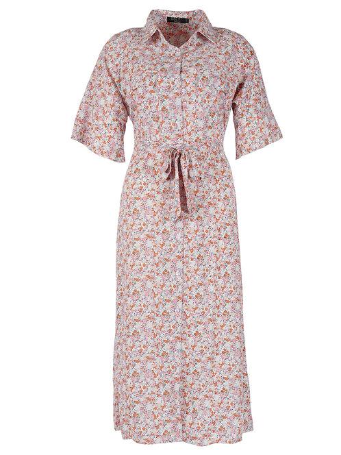 Rebelz jurk Jayden roze met blauwe print