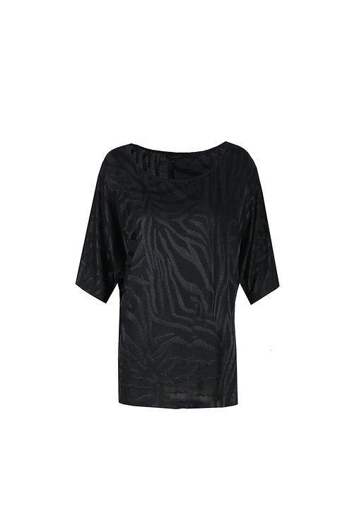 G-maxx top zwart met zebraprint