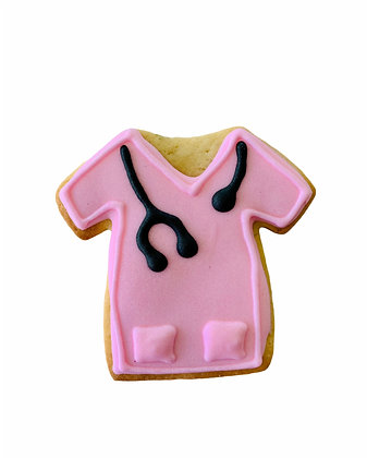 Pink Doctor Overcoat Cookie