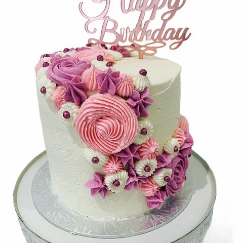 Buttercream Swirl Birthday Cake