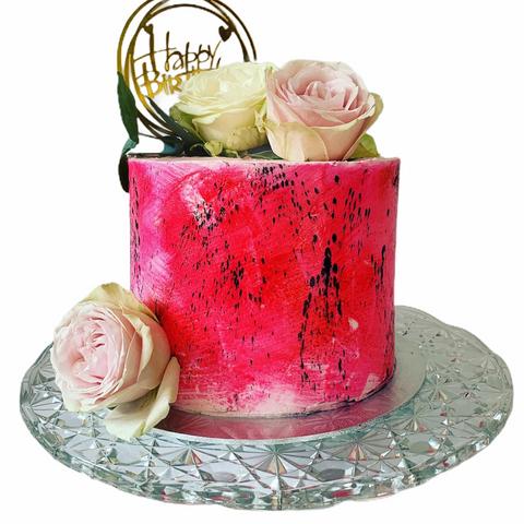 Arty Floral Birthday Cake