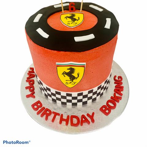Ferrari Birthday Cake for a racing event