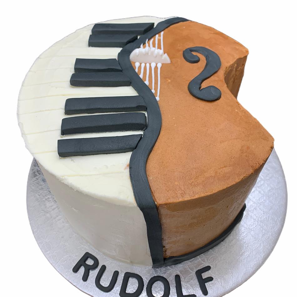Mozart Music Birthday Cake