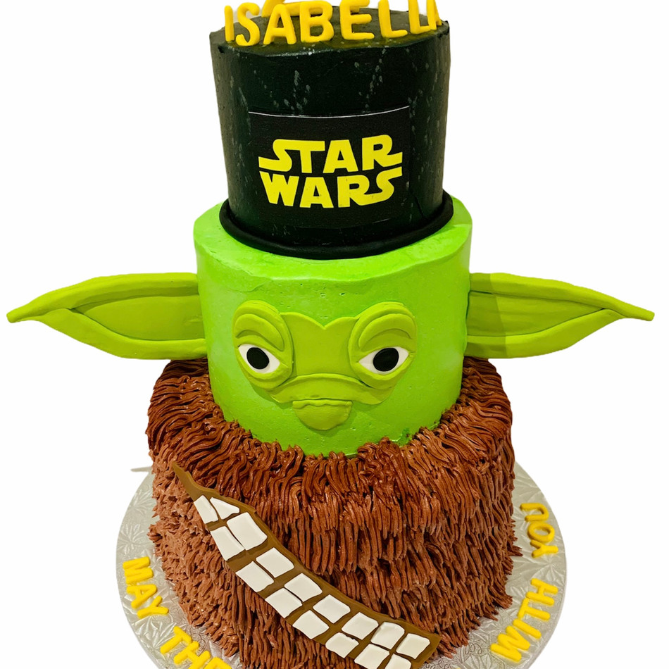 Yoda Star Wars Birthday Cake available in all characters
