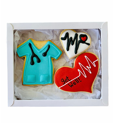 Blue Heartbeat Get Well Soon Gift Box