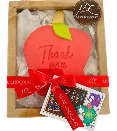 Teacher Appreciation Apple Cookie