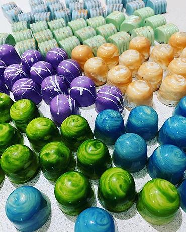 Colourful Chocolate Truffles