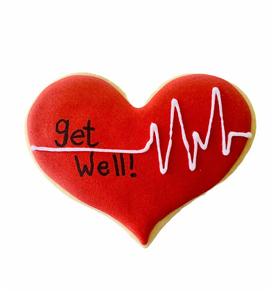 Red Heartbeat Get Well Cookie