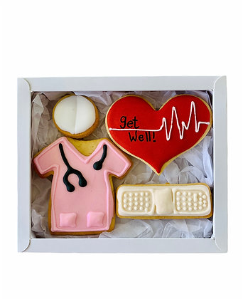 Pink Get Well Soon Gift Box