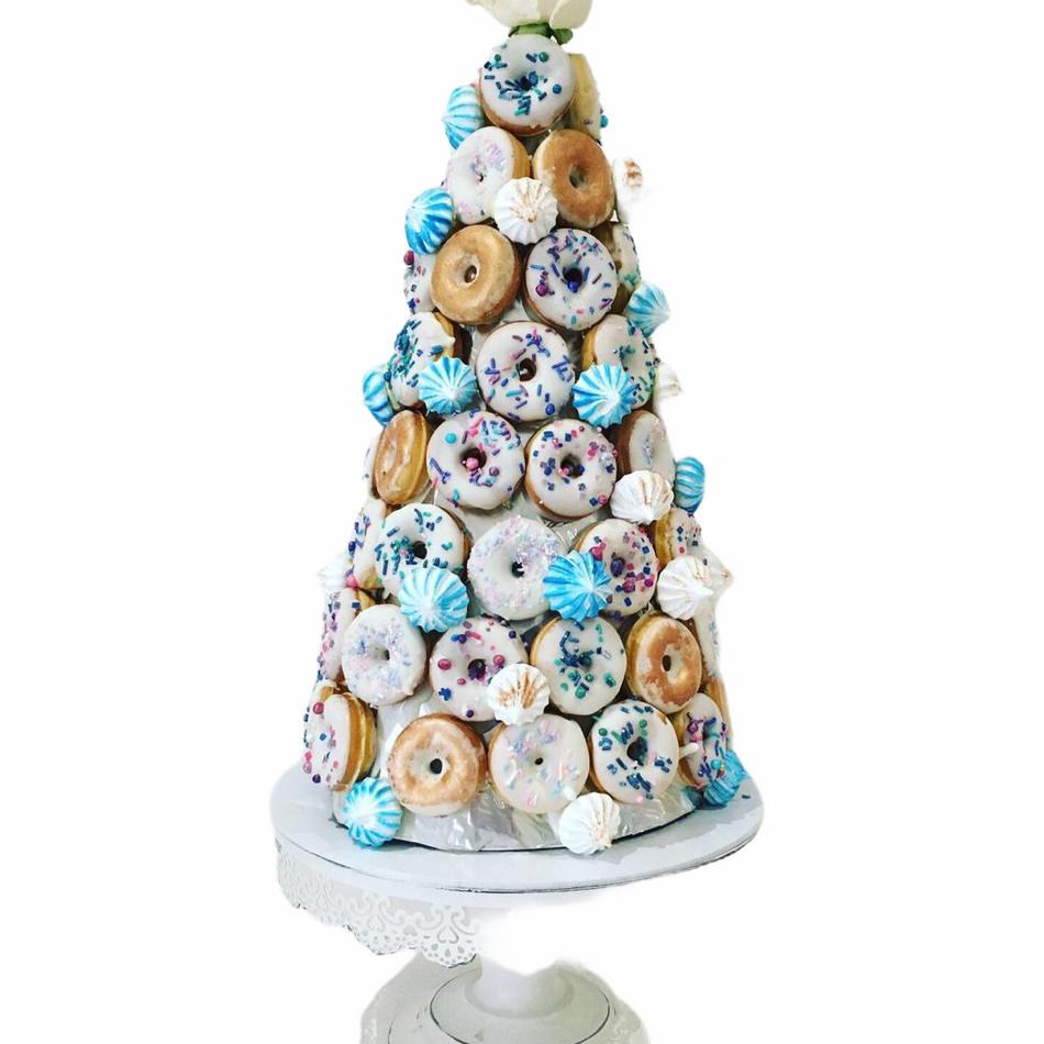 Mini Donut Cake Tower