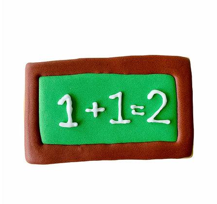 1+1=2 Chalk Board Cookie