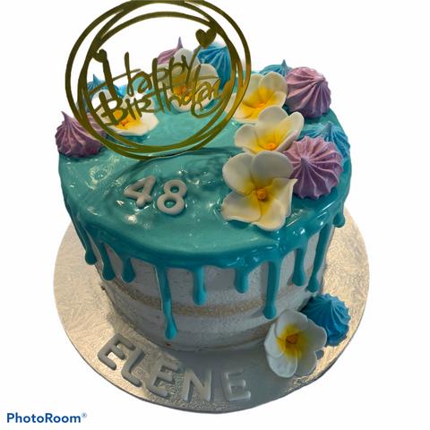 Hawaiian Tropical Birthday Cake