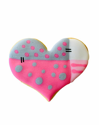 Patchwork Heart Cookie