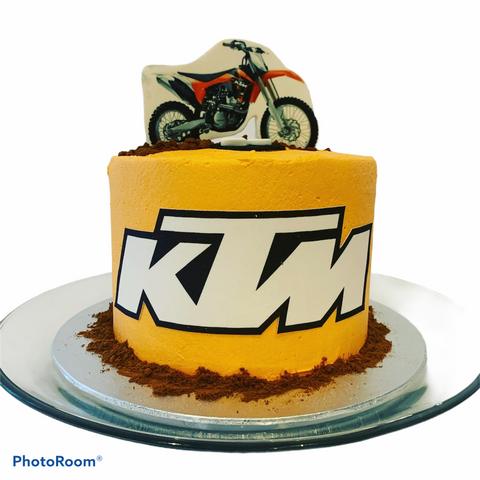 KTM Racing Birthday Cake