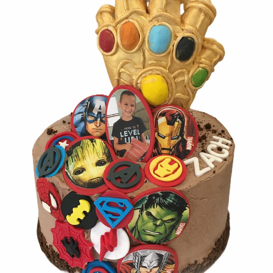 Super Hero Avengers Birthday Cake