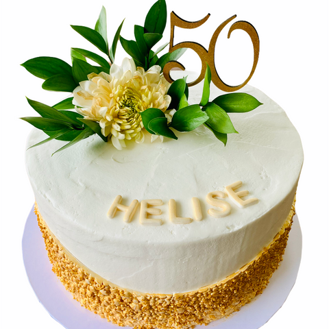 Fresh Flower Birthday Celebration Cake 50th Birthday