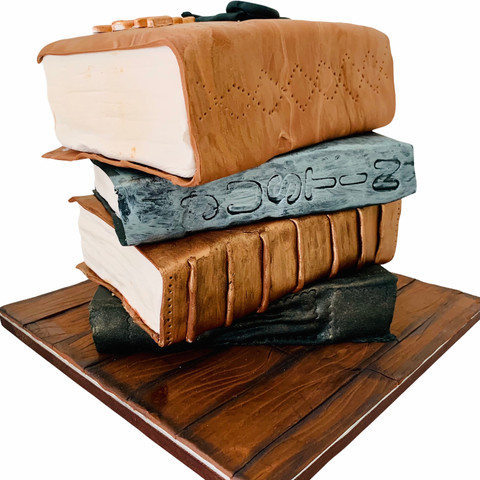 Library Book Pile Theme Cake limited volume