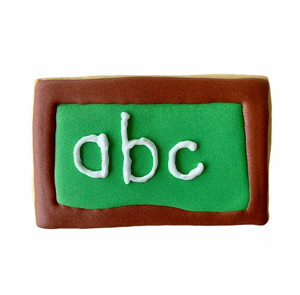 ABC Chalk Board Cookie
