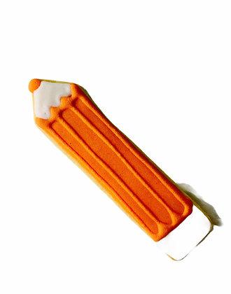 Orange Pencil Cookie