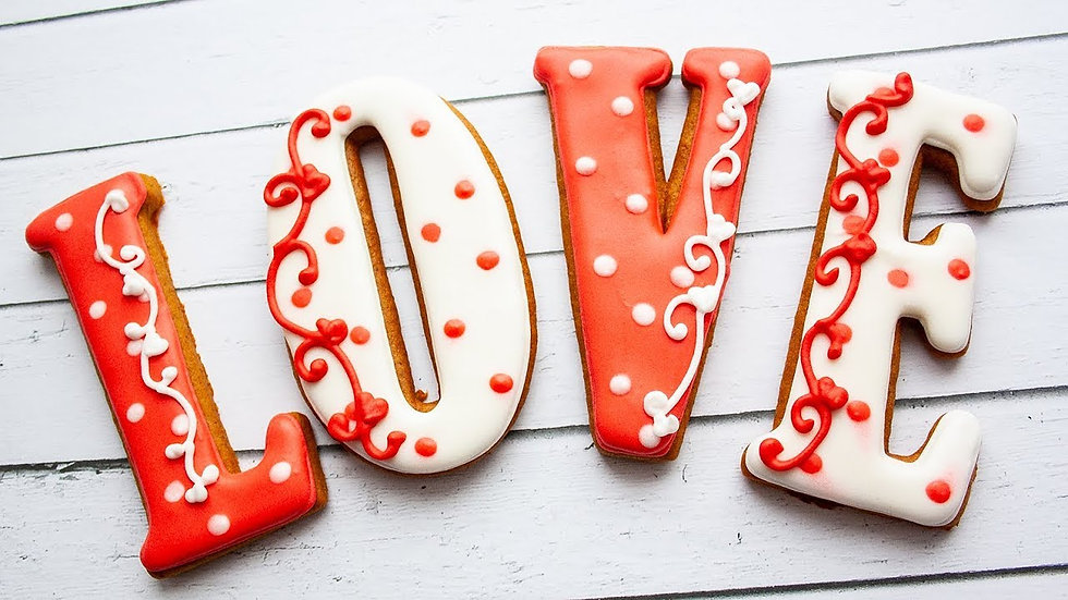 Love Theme Cookies
