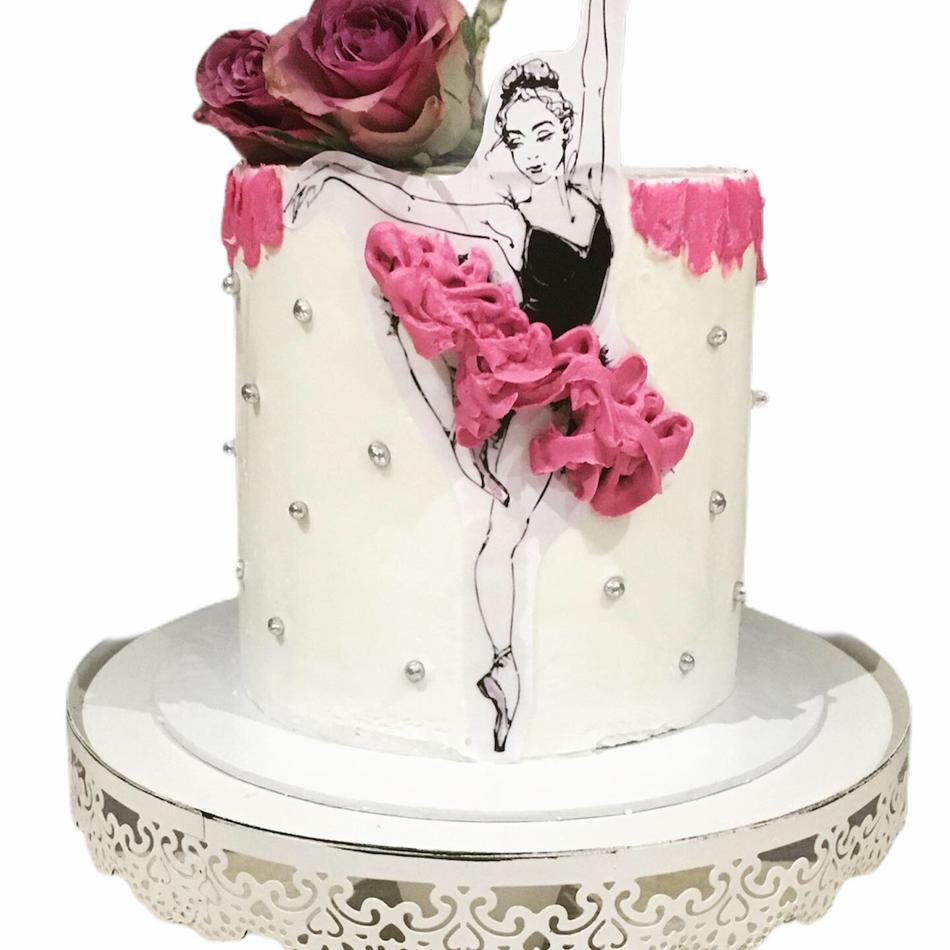 Dancing Ballerina Birthday Cake