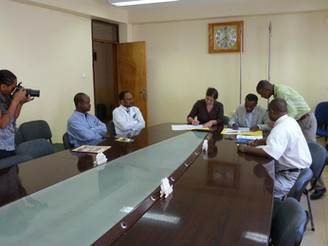 Establishing our collaboration with Jimma University, Department of Ophthalmology.