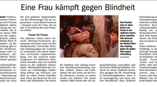 Eine Frau kämpft gegen Blindheit.