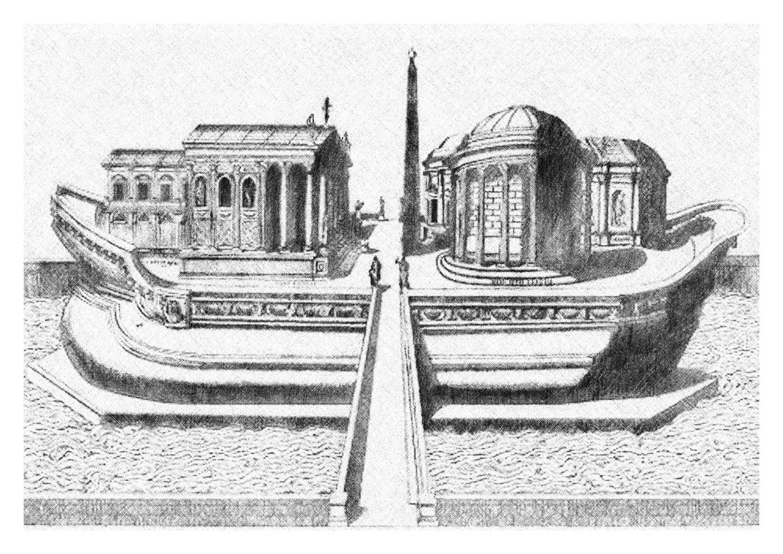 Tiber Island Imagined as a Ship