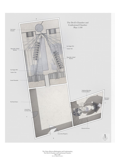 Confessional Chamber and Devil's Chamber Plan