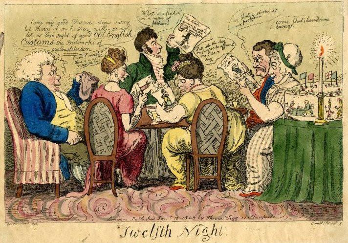 Twelfth Night by Isaac Cruikshank (1807)