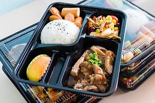 Ready to eat asian rice box, Thai food i