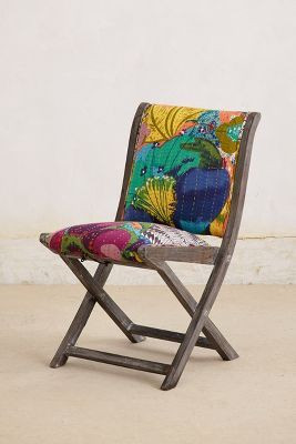 Anthropologie Overdyed Terai Folding Chair3