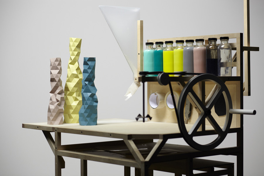 Phil Cuttance Resin moulded Vases