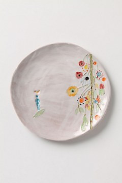 Artful Dinner Plate, Upward Blooms