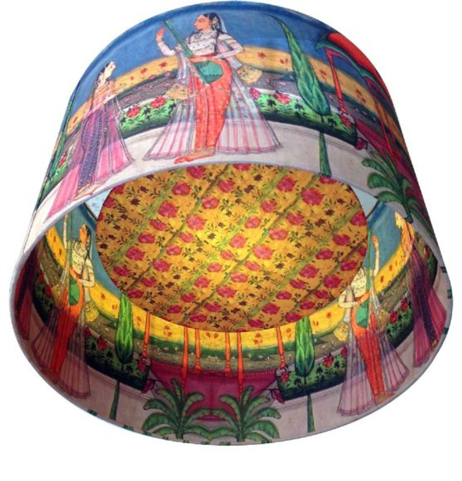 Kerrie Brown Indian Princess with Lute Lampshade