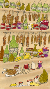 Mock-editorial from a Waitrose Food Illustrated article about the joys of keeping a larder!
