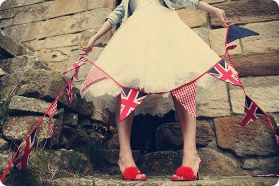 Union Jack Jubilee bunting - 3 meters of UK cool Britannia