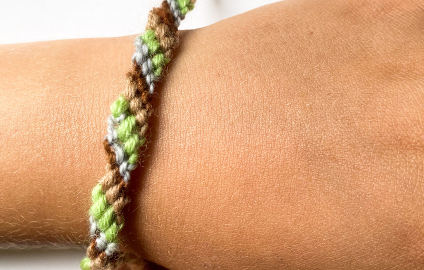 Make a woven strap with colors inspired by your favorite piece of nature this week.