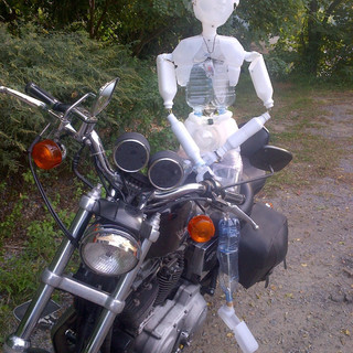 Delphine On A Harley Davidson