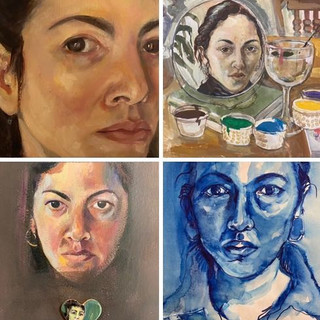 Four Self-Portraits (1960s, 70s, 80s, 90s), Cassandra Saulter