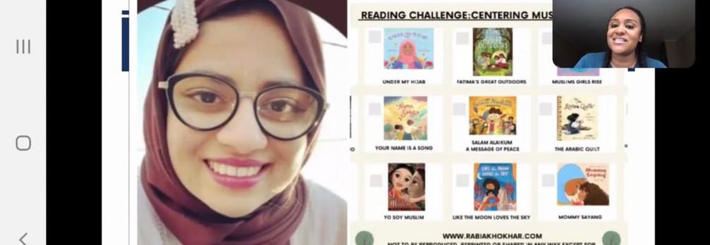 Reading Challenge shared in Professor Goldy Muhammad's workshops!